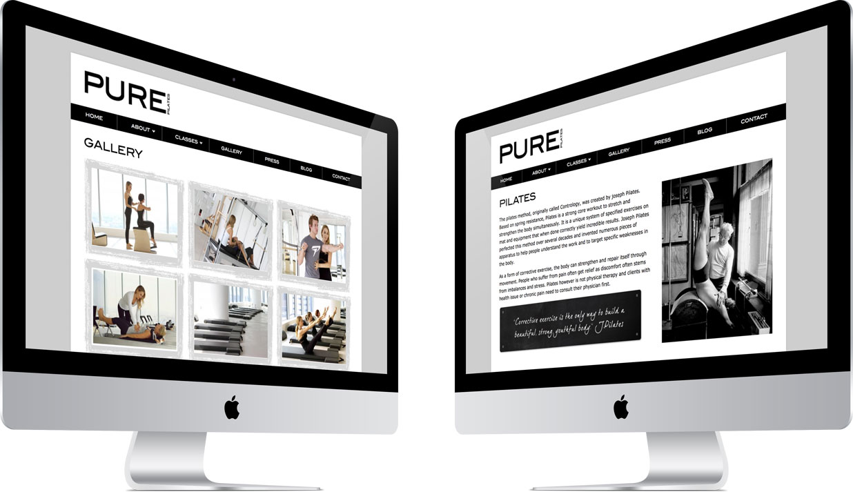 Pure Pilates Internal Pages